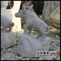 花岗岩石雕十二生肖园林景观动物雕塑风水摆件