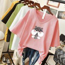 韩版女装T恤时尚女式T恤批发 几元服装批发网 地摊货源供应