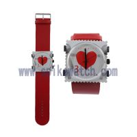 深圳SPIKE礼品手表工厂直销时尚促销赠品邮票石英手表