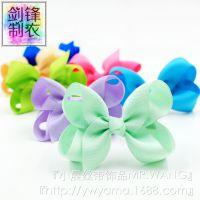 小晨中号翘翘花宝宝发夹外贸欧美eBay速卖通儿童丝带蝴蝶结批发