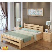 床实木双人单人木板简易经济型出租房特价1.8现代简约1.5米1.2m