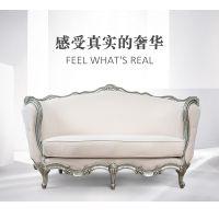 齐居置家欧式沙发实木沙发真皮沙发客厅整装组合家具简欧沙发布艺套装三人