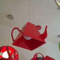 玛斯欧大号茶壶造型树脂艺术吊灯家居餐台装饰LED灯泡光源现代简约风格吊灯