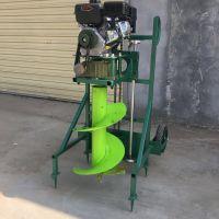 启航栽树钻孔机 汽油钻眼打坑机 自走式手扶挖坑机价格