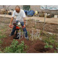 多规格移栽植树轻便式挖坑机 苗圃植树圆坑打坑机 全新四轮装置钻洞机