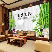 中式3d立体无缝电视背景墙壁纸客厅家影视墙布墙纸大型个性壁画