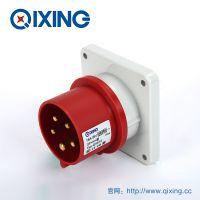 QIXING启星QX815 5芯 16A IP44高端型工业暗装插头 3C认证