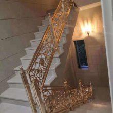精美装饰镜面玫瑰金不锈钢激光雕花镂空楼梯护栏