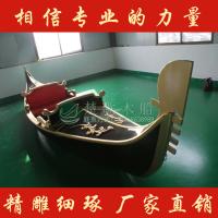 广西酒店贡多拉装饰船 欧式手划船 公园观光船 木船厂家直销