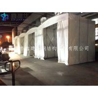 靖江市订做推拉雨棚布移动伸缩帐篷帆布固定棚工厂仓库棚