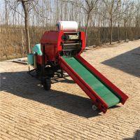 德牛DN5512型柴油机发电机玉米秸秆青储全自动青贮秸秆全自动打捆机包膜机