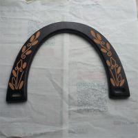 半圆形镭射logo木手挽木提手