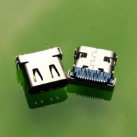 TYPE-C母座 双壳保护 蓝色胶芯 usb-C12P插12P贴 双壳/双外壳