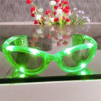 厂家批发舞会节庆用品LED闪光发光眼镜女士眼镜