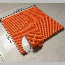 咸阳4S汽车装饰公司美容车间拼接塑料板 聚丙烯塑料网格排水板 河北华强