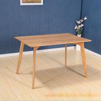 龙华餐桌样式图片定制,田园木质长条四人桌,木制餐厅家私定做工厂