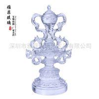 八吉祥琉璃佛教用品 藏教用品 八吉祥套装 古法琉璃工艺品