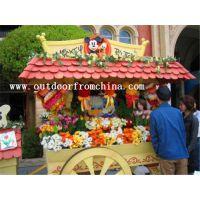 供应商业广场木质小吃售货车 饮料外卖亭 木质摆卖屋