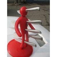 创意家居时尚生活 刀架 人型刀架 人形刀架 搞怪塑料刀架