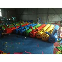 趣味运动会比赛竞速器材道具龙舟 毛毛虫旱地充气玩具 充气户外运动玩具