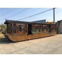 出售淮安大型餐厅室内餐饮船 可定制尺寸款式,吃饭的画舫船