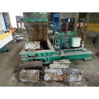 铁屑铁丝卧式压块机 废铝不锈钢液压打包机 山东思路供应金属剪切机