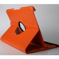 惠州平板电脑保护套厂家10.1寸360度旋转带支撑纯色仿皮OEM加工定做