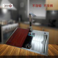 广东祺祥居加厚进口SUS304不锈钢单槽单盆手工水槽6845厨房整体橱柜洗菜池