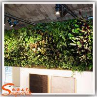 松涛工艺室内立体绿化植物背景墙 人造塑料仿真植物墙厂家直销