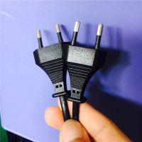厂家直供dyx 欧规dyx 电源线欧标插头电源线 两芯圆插插头电源线