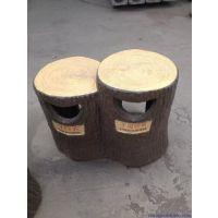 专业供应钢筋混凝土水泥方树皮垃圾桶,果皮箱 厂家垃圾箱直销