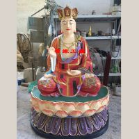 定做彩绘地藏王菩萨闵公道明树脂佛像 佛像价格
