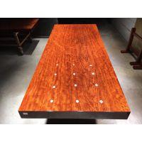 厂家直供巴花实木大板茶桌茶台206长87宽 红木大板办公老板桌简约现代
