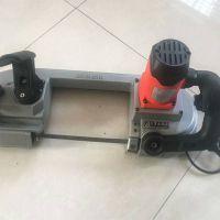 金属带锯木工带锯机 小型多功能锯床 手持轻便山煤机械电动切割机
