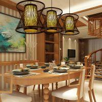 美尔家灯饰厂家供应竹艺灯具东南亚风鸟笼灯创意灯