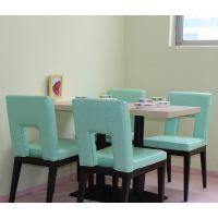 海德利 美式乡村 铁艺餐桌椅组合 餐厅酒店餐饮店桌子 实木餐桌