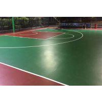 丙烯酸篮球场地坪硅PU球场地坪室内外篮球场地坪施工 环保地坪漆