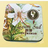 供应植物精油皂铁盒 透明香皂铁盒专业定制