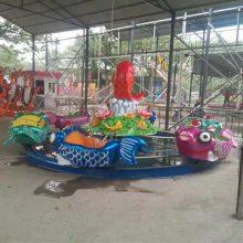 新款夏季儿童玩水设备 鲤鱼跳龙门游乐设施 熊出没款电动水陆战车