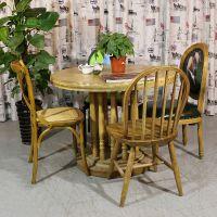 美式乡村麦德嘉MDJ-ZT03全实木松木餐桌 主题餐厅音乐餐吧桌椅咖啡厅成套餐桌椅家具