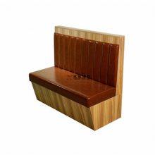 甜品店靠墙卡座桌椅定制,板式简约软包沙发系列