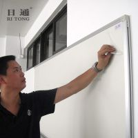 广州磁性白板写字板厂家批发日通RITONG搪瓷推拉白绿板品牌定做