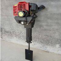 手持链条式断根机 富兴牌 便携式汽油铲头式移植挖树机 带土球移苗机