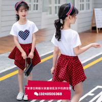 江苏南京童装批发厂家微信号2018夏季新款中小童时尚韩版新款男女童套装批发