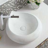 纯白色陶瓷创意水滴造型北欧风格台上艺术盆台盆面盆