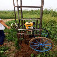 山东省汇之鑫厂家零利润销售 四角架挖坑机 四角地钻汽油打井机架子发货及时