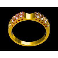 纯铜镶嵌白玉戒指定做 金戒指回收 —菩提饰品生产厂家