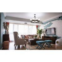 【山水装饰】135平米美式家居空间实景图分享!