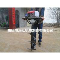 小设备大用途的挖坑机 润众机械挖坑机刀片 种树需要地钻机