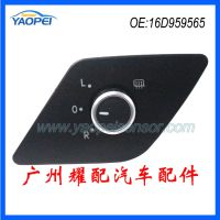 大众捷达MK汽车镀铬后视镜控制热折旋钮开关倒车镜开关16D959565